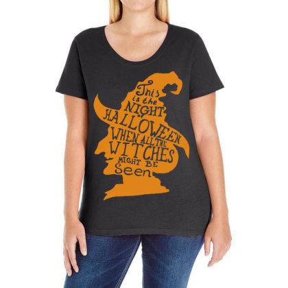 Happy Halloween Day Ladies Curvy T-shirt Designed By Pinkanzee