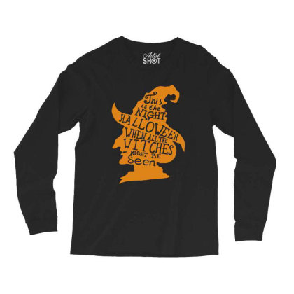Happy Halloween Day Long Sleeve Shirts Designed By Pinkanzee