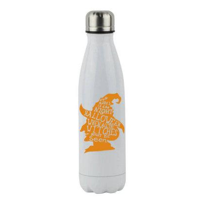 Happy Halloween Day Stainless Steel Water Bottle Designed By Pinkanzee
