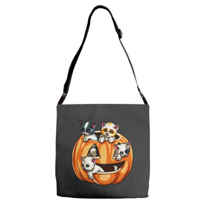 Halloween Cats Adjustable Strap Totes Designed By Pinkanzee
