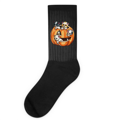Halloween Cats Socks Designed By Pinkanzee