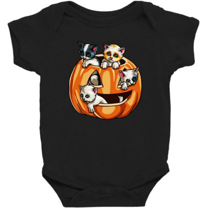 Halloween Cats Baby Bodysuit Designed By Pinkanzee