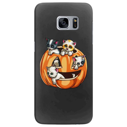 Halloween Cats Samsung Galaxy S7 Edge Case Designed By Pinkanzee
