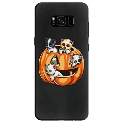Halloween Cats Samsung Galaxy S8 Case Designed By Pinkanzee