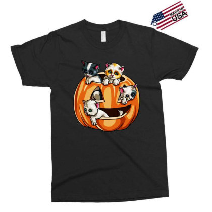 Halloween Cats Exclusive T-shirt Designed By Pinkanzee