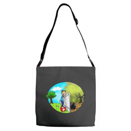 The Other Side Adjustable Strap Totes Designed By Pinkanzee