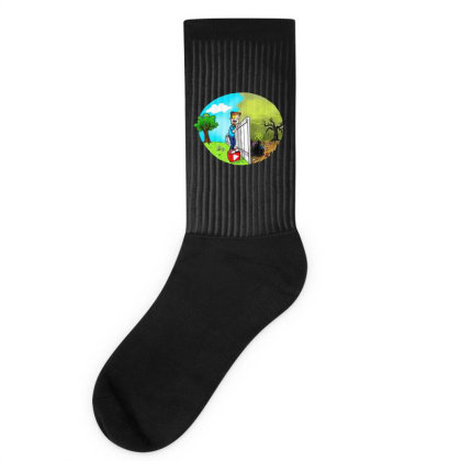 The Other Side Socks Designed By Pinkanzee