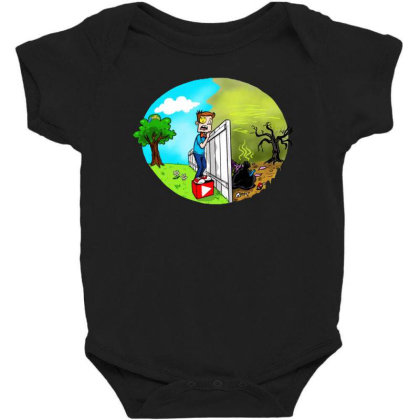The Other Side Baby Bodysuit Designed By Pinkanzee