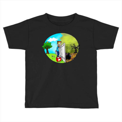 The Other Side Toddler T-shirt Designed By Pinkanzee