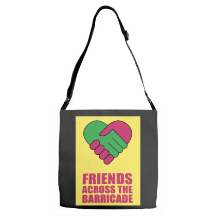 Friends Across Adjustable Strap Totes Designed By Pinkanzee