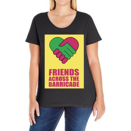 Friends Across Ladies Curvy T-shirt Designed By Pinkanzee