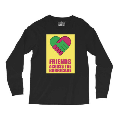 Friends Across Long Sleeve Shirts Designed By Pinkanzee
