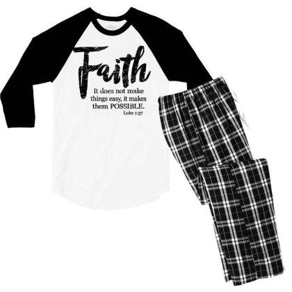 Makes Things Possible Luke Men's 3/4 Sleeve Pajama Set Designed By Pinkanzee