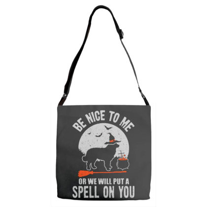 Dog Spell On You Adjustable Strap Totes Designed By Pinkanzee
