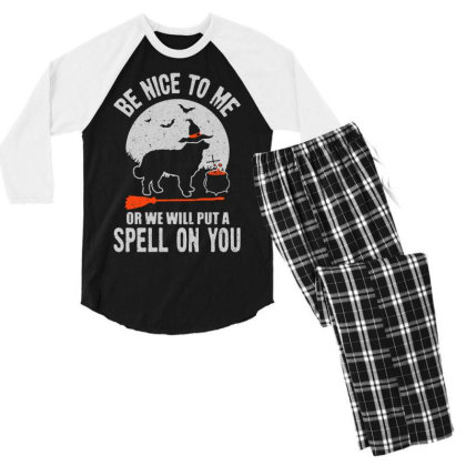 Dog Spell On You Men's 3/4 Sleeve Pajama Set Designed By Pinkanzee