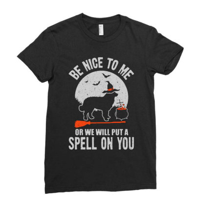 Dog Spell On You Ladies Fitted T-shirt Designed By Pinkanzee