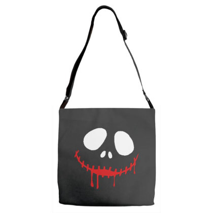 Bad Clown Horror Adjustable Strap Totes Designed By Pinkanzee