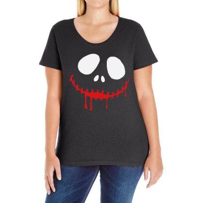 Bad Clown Horror Ladies Curvy T-shirt Designed By Pinkanzee