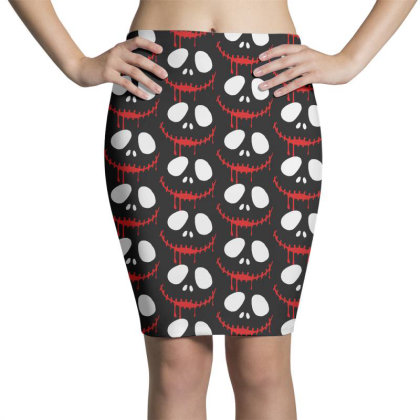 Bad Clown Horror Pencil Skirts Designed By Pinkanzee