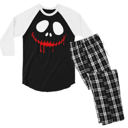 Bad Clown Horror Men's 3/4 Sleeve Pajama Set Designed By Pinkanzee