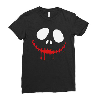 Bad Clown Horror Ladies Fitted T-shirt Designed By Pinkanzee