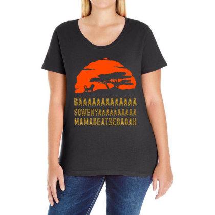 Baaaaaaaaaaaaa Ladies Curvy T-shirt Designed By Pinkanzee