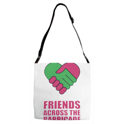 Awesome Friends Across Adjustable Strap Totes Designed By Pinkanzee