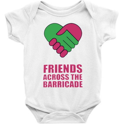 Awesome Friends Across Baby Bodysuit Designed By Pinkanzee