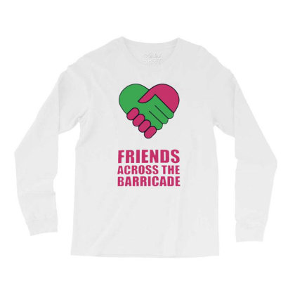 Awesome Friends Across Long Sleeve Shirts Designed By Pinkanzee