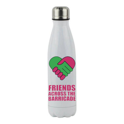 Awesome Friends Across Stainless Steel Water Bottle Designed By Pinkanzee