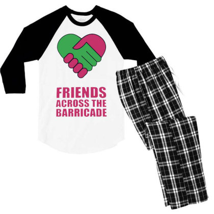 Awesome Friends Across Men's 3/4 Sleeve Pajama Set Designed By Pinkanzee