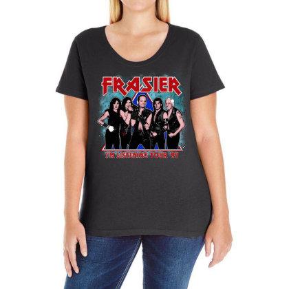 I'm Listening Tour '97 Ladies Curvy T-shirt Designed By Pinkanzee