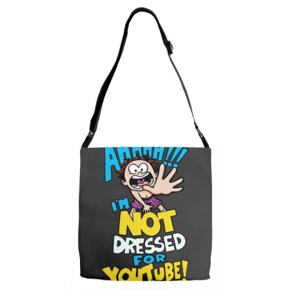 Ahh! Not Dressed For Youtube Adjustable Strap Totes Designed By Pinkanzee