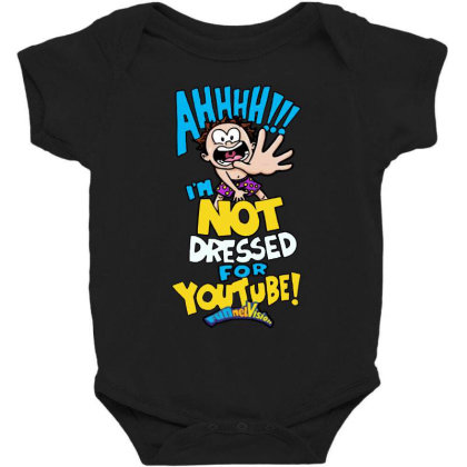 Ahh! Not Dressed For Youtube Baby Bodysuit Designed By Pinkanzee