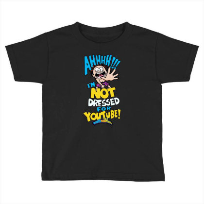 Ahh! Not Dressed For Youtube Toddler T-shirt Designed By Pinkanzee