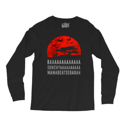 Baaaaaaaaaaaaa Long Sleeve Shirts Designed By Pinkanzee
