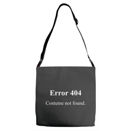 404 Costume Not Found Adjustable Strap Totes Designed By Pinkanzee