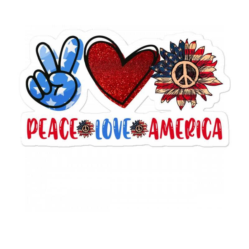 Peace Love America Sticker | Artistshot