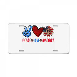 peace love america License Plate | Artistshot