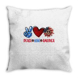 peace love america Throw Pillow | Artistshot