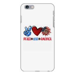 peace love america iPhone 6 Plus/6s Plus Case | Artistshot