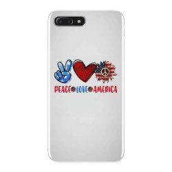 peace love america iPhone 7 Plus Case | Artistshot