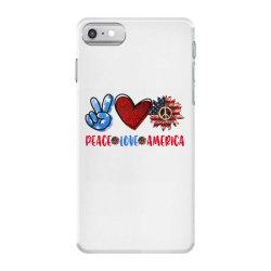 peace love america iPhone 7 Case | Artistshot