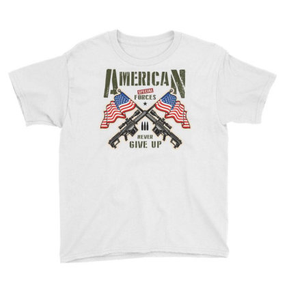 American Special Forces Never Give Up Youth Tee Designed By Estore