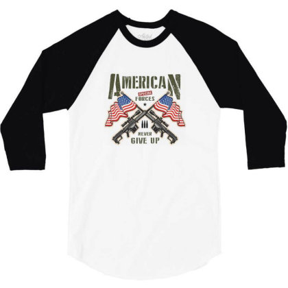 American Special Forces Never Give Up 3/4 Sleeve Shirt Designed By Estore