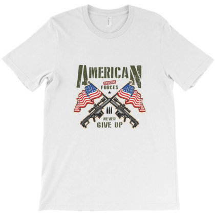 American Special Forces Never Give Up T-shirt Designed By Estore