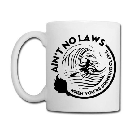 Halloween Witch Ain't No Laws You're Drinking Claws Coffee Mug Designed By Pinkanzee