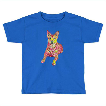 Alert Shiba Inu And Carolina Toddler T-shirt Designed By Kemnabi