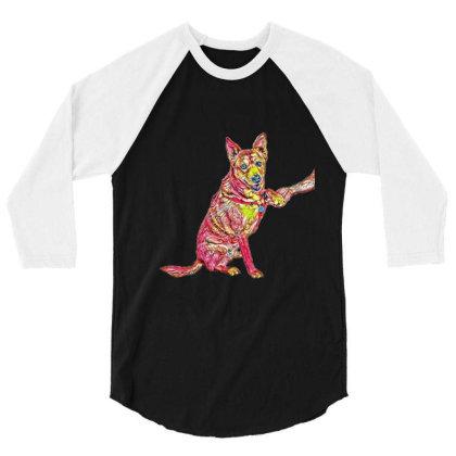 Well Trained Shiba Inu And Ca 3/4 Sleeve Shirt Designed By Kemnabi