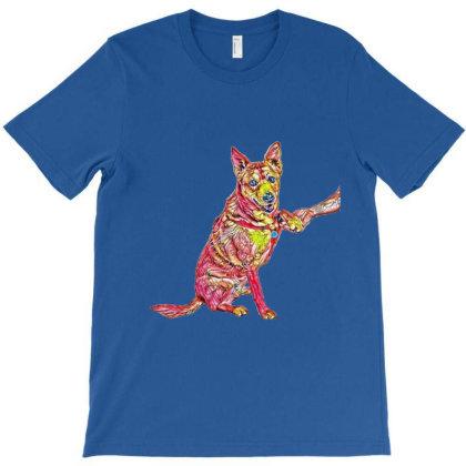 Well Trained Shiba Inu And Ca T-shirt Designed By Kemnabi